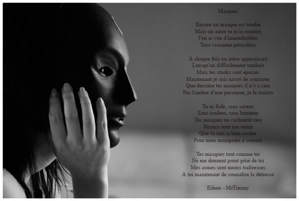 Masques Illustration Eileen Rose Rouge Poèmes Et